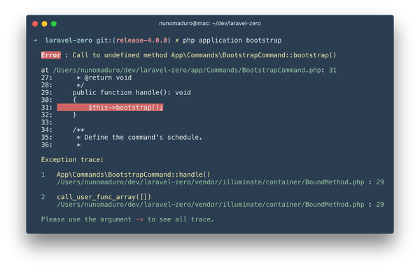 Laravel Collision Package 02